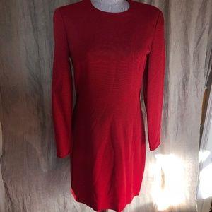 Giorgio Armani Red shift dress ASNEW 10
